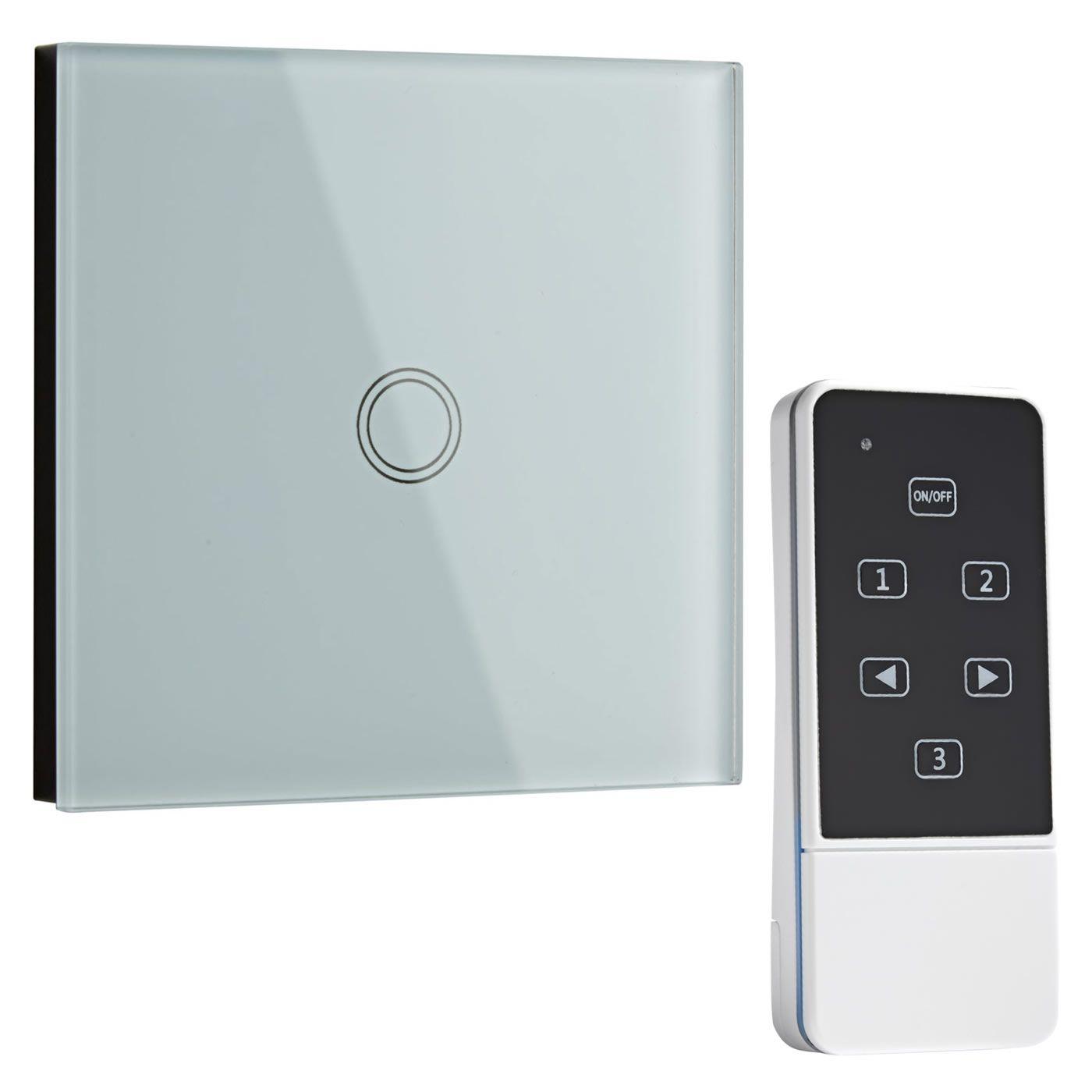 Interruptor de Diseño de Pared Blanco con Mando de Control