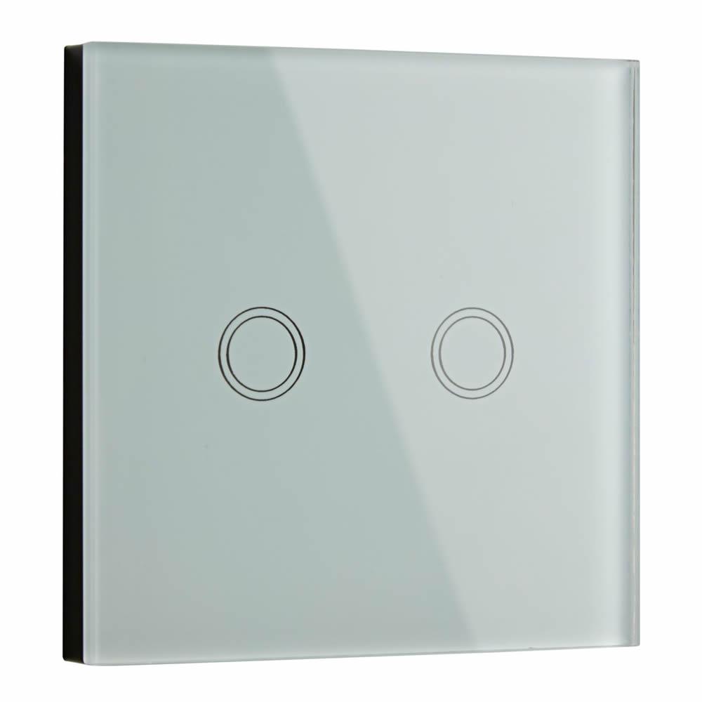 Interruptor de Diseño de Pared Blanco Doble