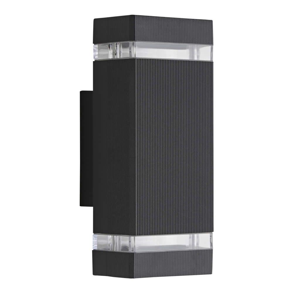 Apliqué de Pared Exterior Bidireccional con Diseño Cúbico Architect Negro