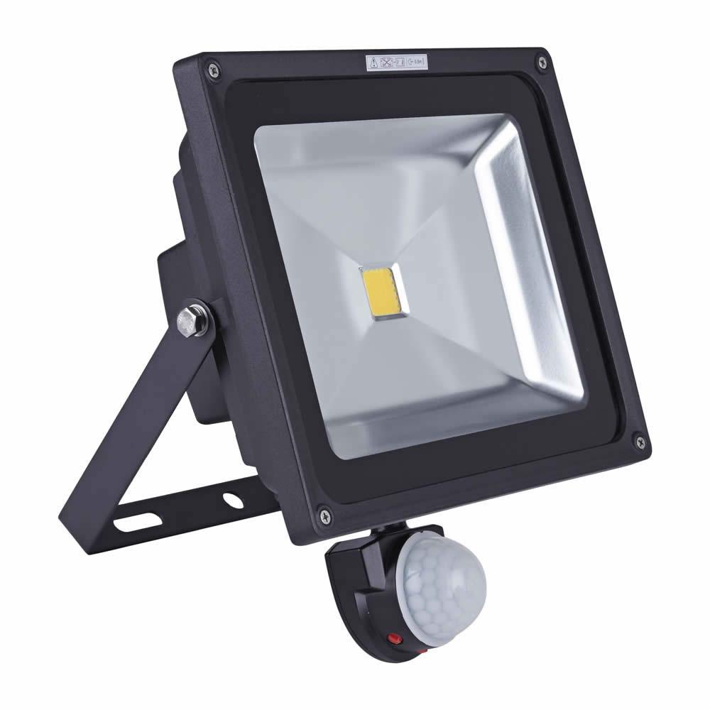 Foco Faro Proyector LED 50W COB con Sensor de Movimiento