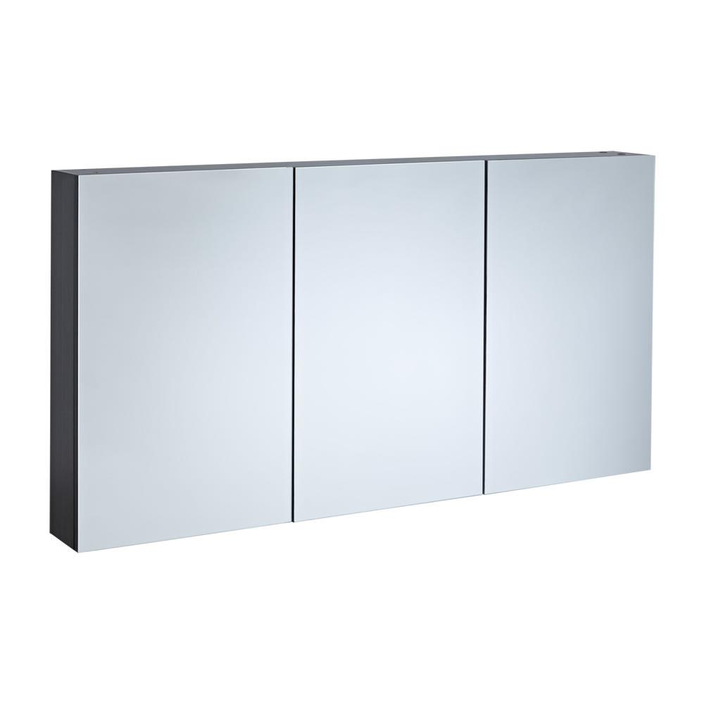 Espejo con Armario de Baño 1350x150x700 - Gris