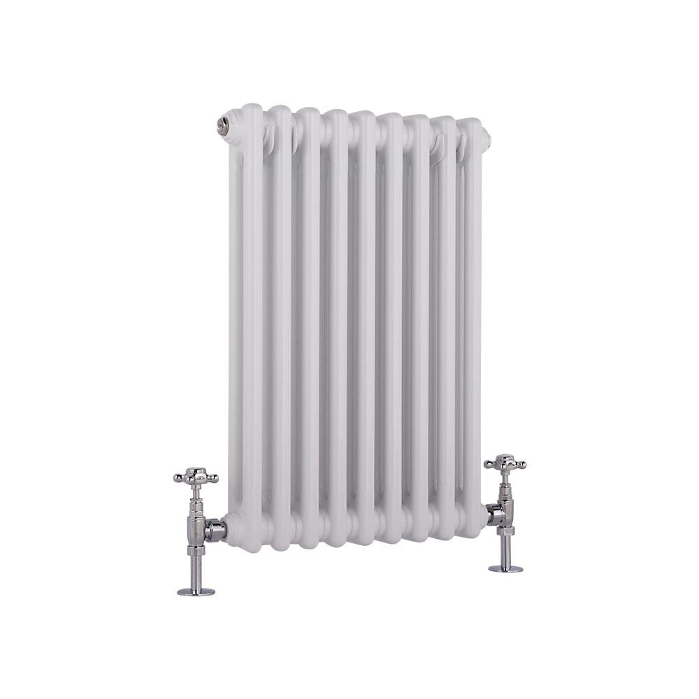Radiador de Diseño Horizontal Doble Tradicional - Blanco - 600mm x 405mm x 66mm - 568 Vatios - Regent