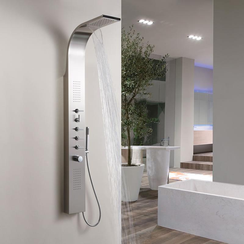 Panel de ducha termost tico multifunci n con alcachofa a for Ducha cascada