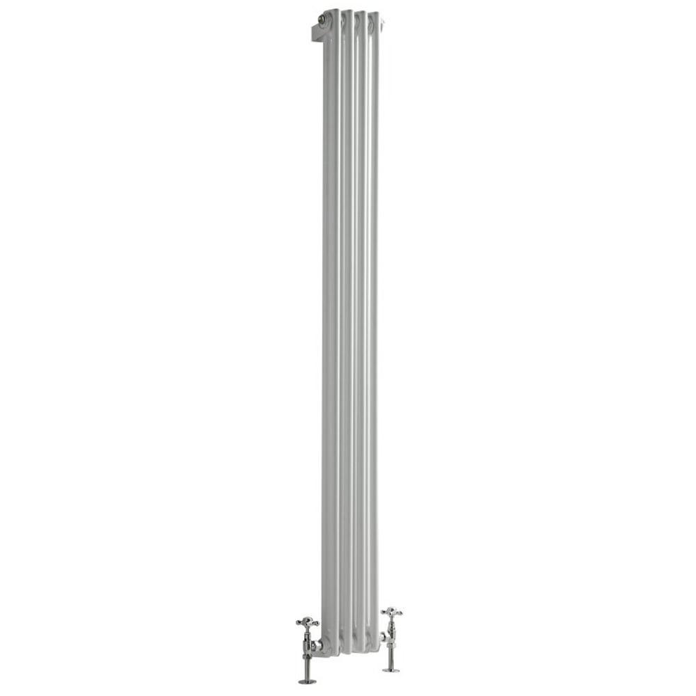Radiador de Diseño Vertical Doble Tradicional - Blanco - 1800mm x 203mm x 68mm - 622 Vatios - Regent