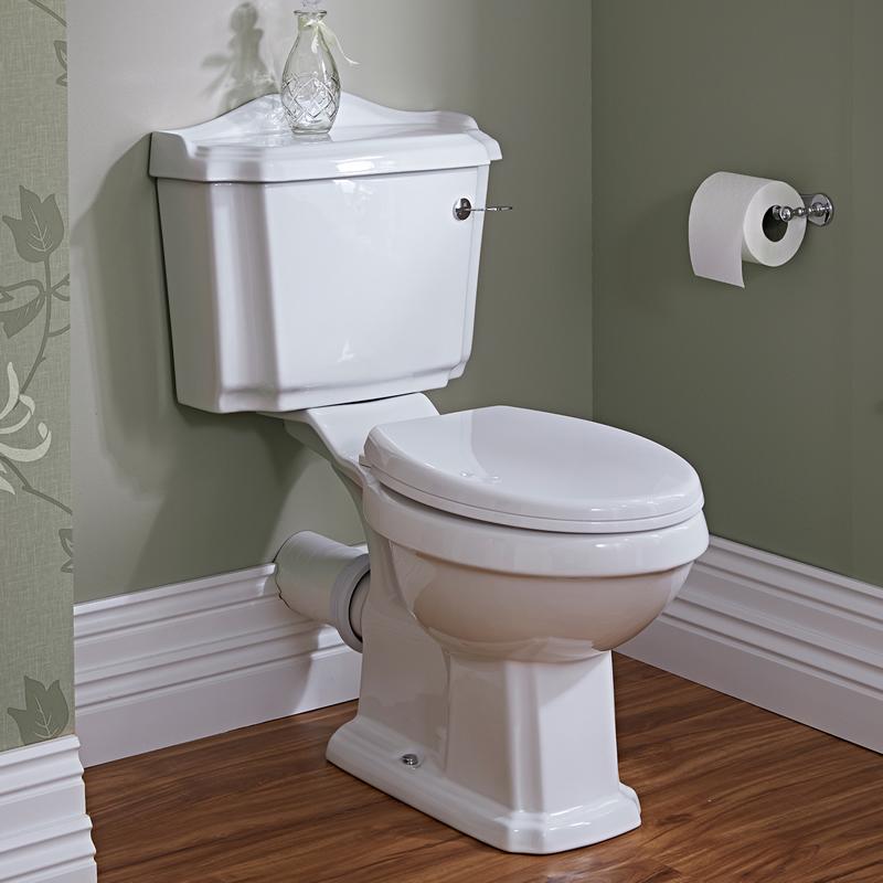 Conjunto WC Completo con Inodoro Cisterna con Salida Horizontal y Tapa Clásico