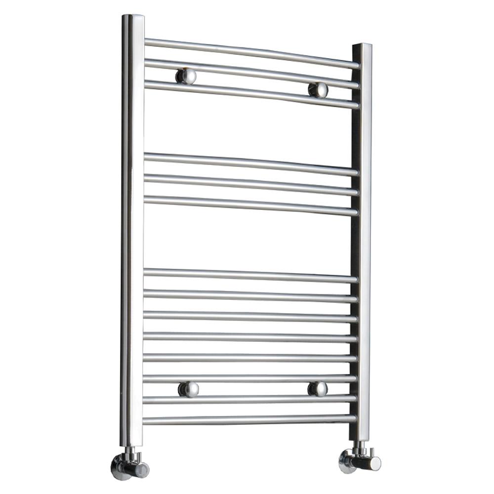Radiador Toallero Curvo - Cromado - 800mm x 600mm x 46mm - 336 Vatios - Ladder