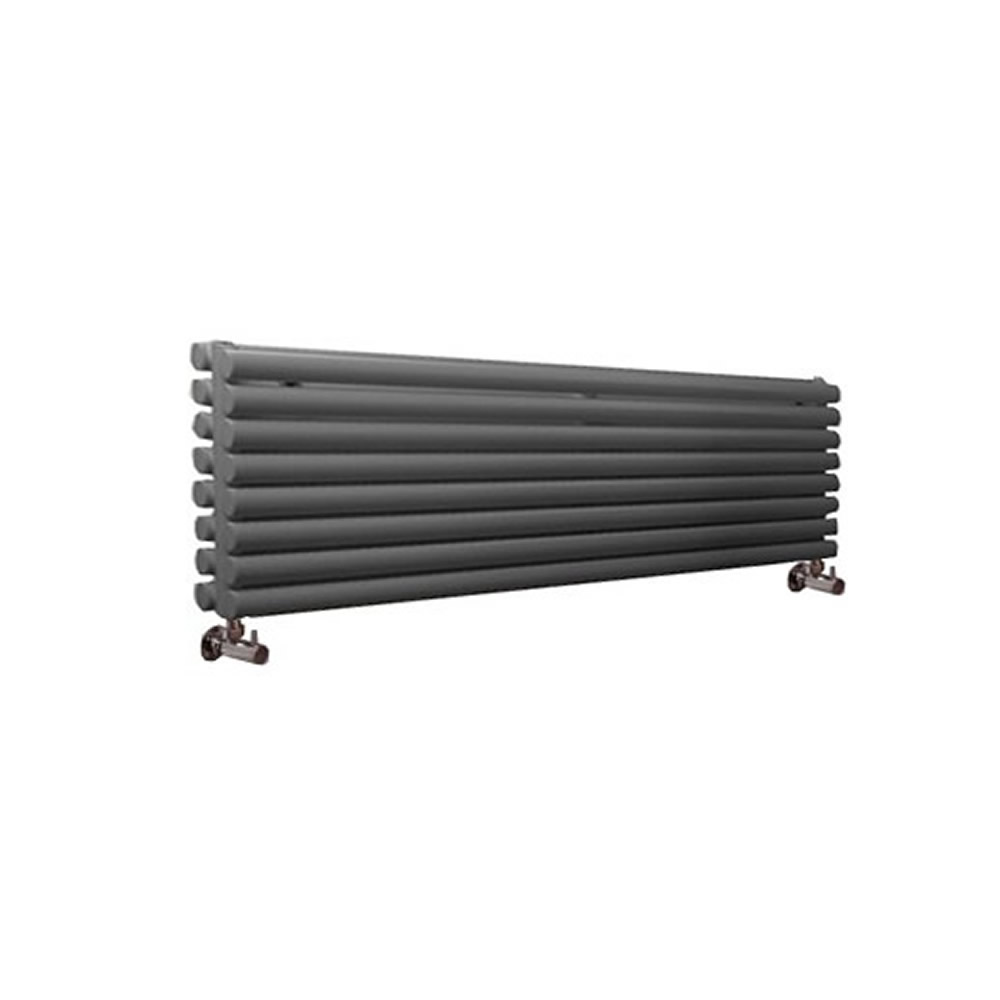 Radiador de Diseño Horizontal Doble - Antracita - 472mm x 1780mm x 78mm - 1798 Vatios - Revive