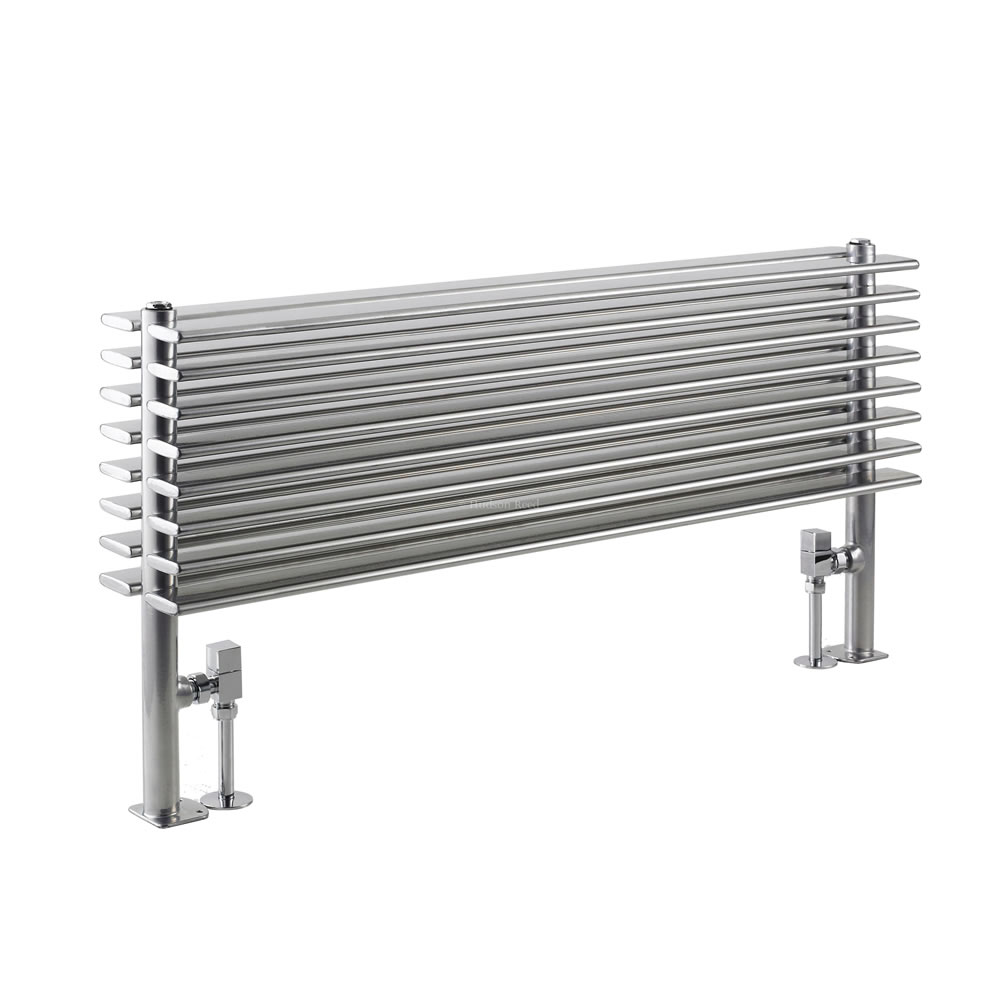 Radiador de Diseño Horizontal Doble - Cromado - 504mm x 1000mm x 146mm - 1016 Vatios - Parallel