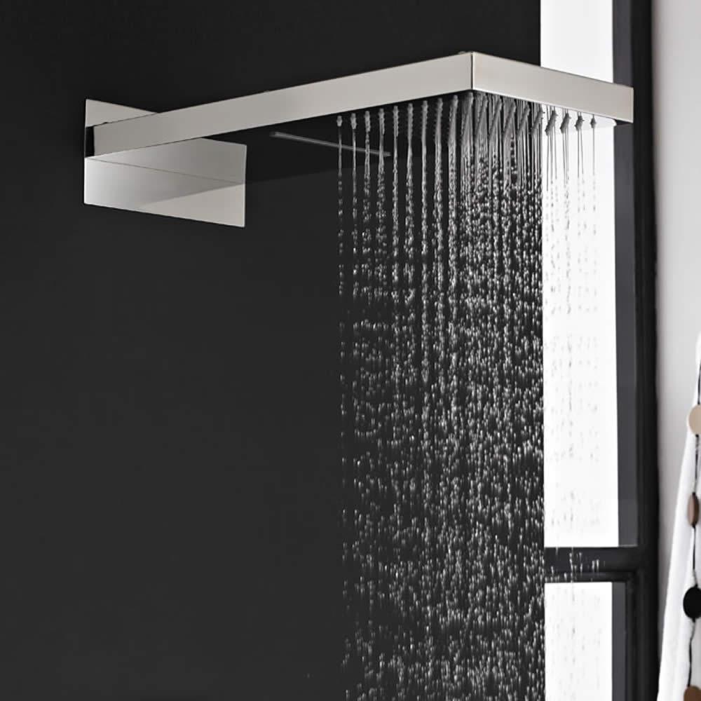 Alcachofa de Ducha Rectangular Función Doble Efecto Lluvia y Cascada de 500 x 200mm