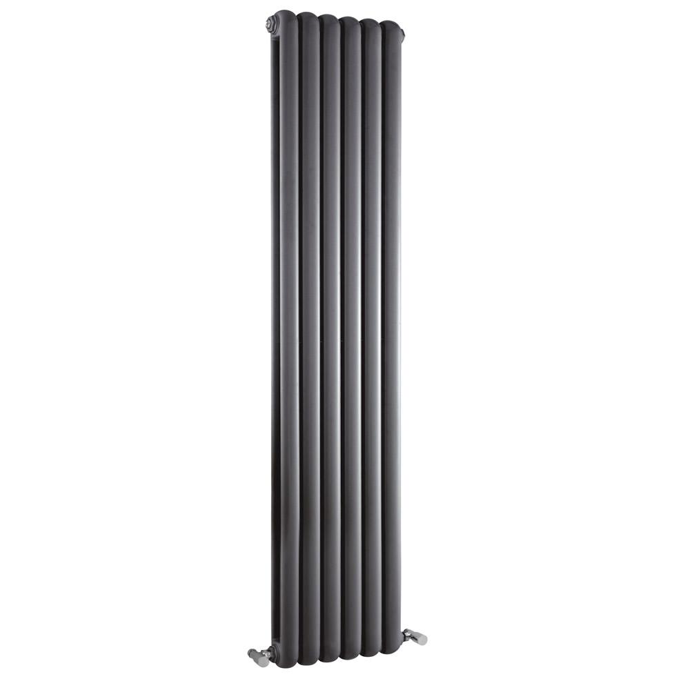 Radiador de Diseño Vertical Doble Tradicional - Antracita - 1500mm x 383mm x 80mm - 1258 Vatios - Saffre