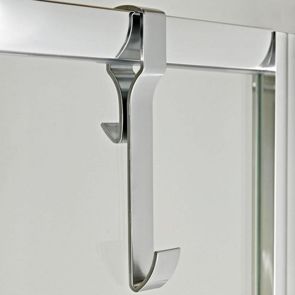 percha para batas o toallas para mampara abs cromado. Black Bedroom Furniture Sets. Home Design Ideas