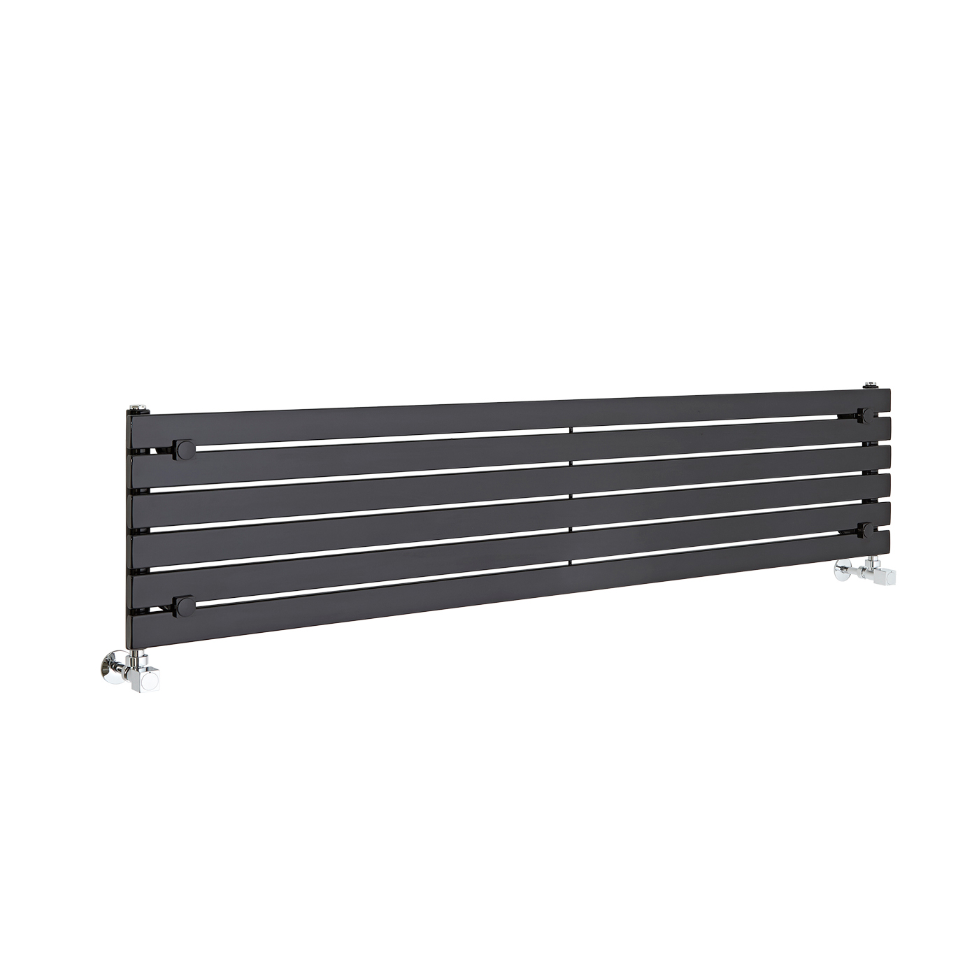Radiador de Diseño Horizontal - Negro Lúcido - 354mm x 1600mm x 54mm - 773 Vatios - Sloane