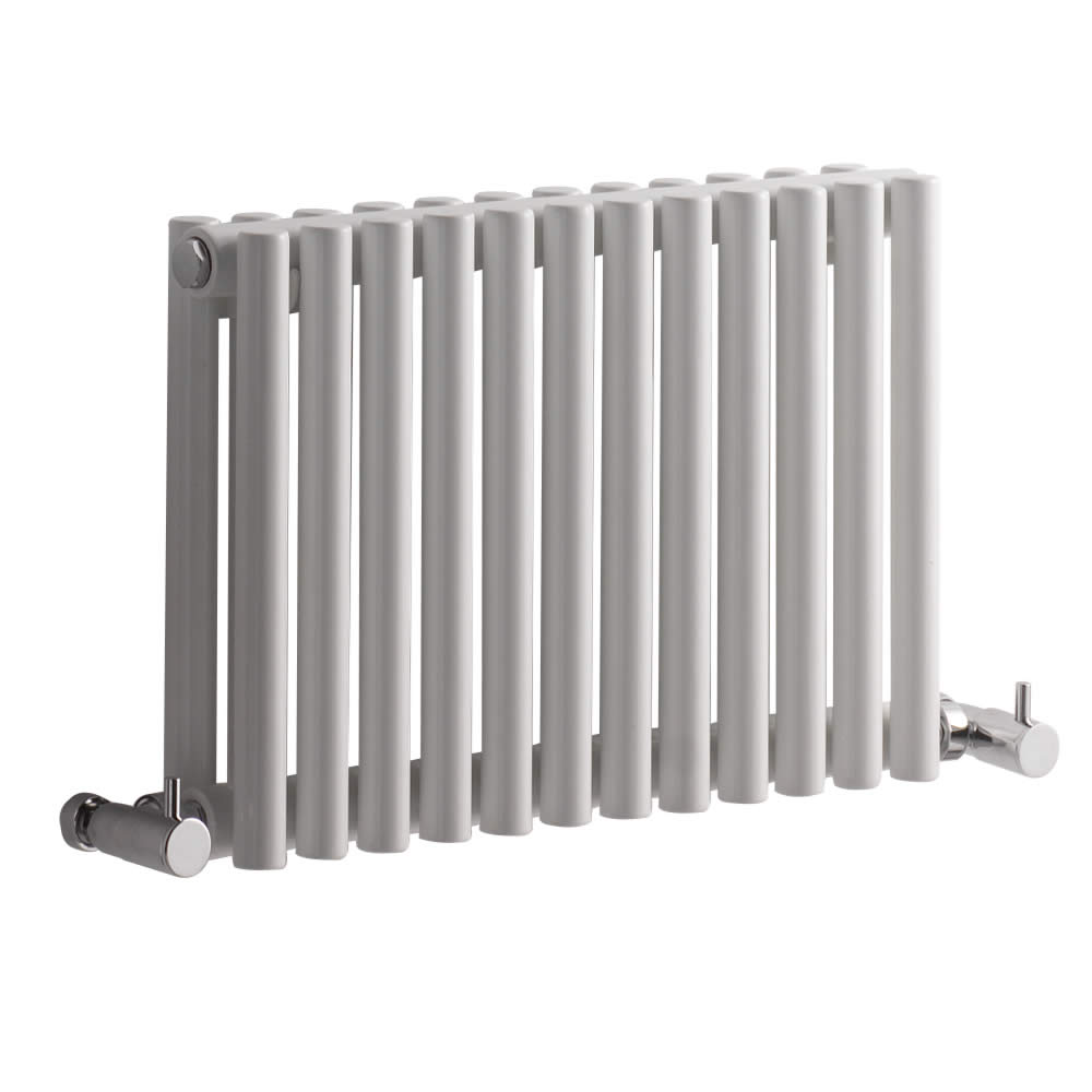 Radiador de Diseño Horizontal Doble - Blanco - 300mm x 456mm x 78mm - 372 Vatios - Revive