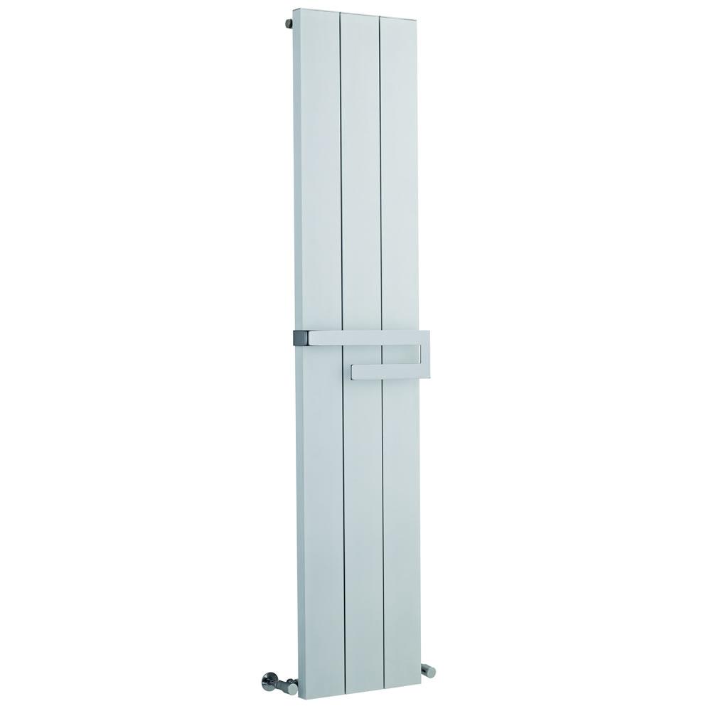Radiador de Diseño Vertical con Barra Portatoallas - Blanco - 1800mm x 370mm x 105mm - 1265 Vatios - Ceylon