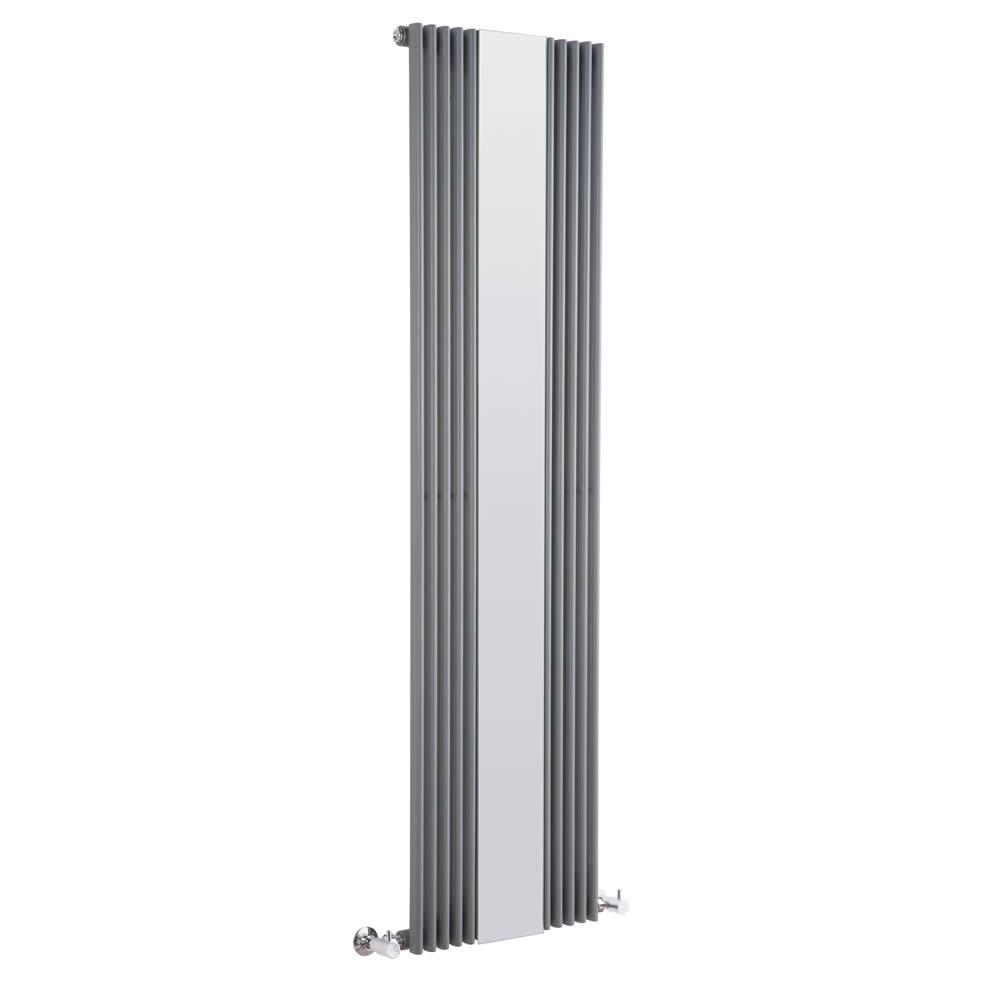 Radiador de Diseño Vertical Con Espejo - Antracita - 1600mm x 420mm x 62mm - 840 Vatios - Keida