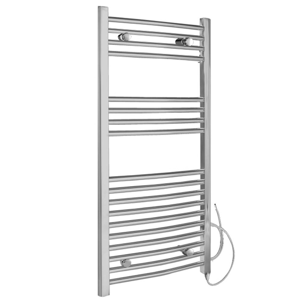 Radiador Toallero Eléctrico Curvo - Cromado - 100mm x 500mm x 42mm - Ladder