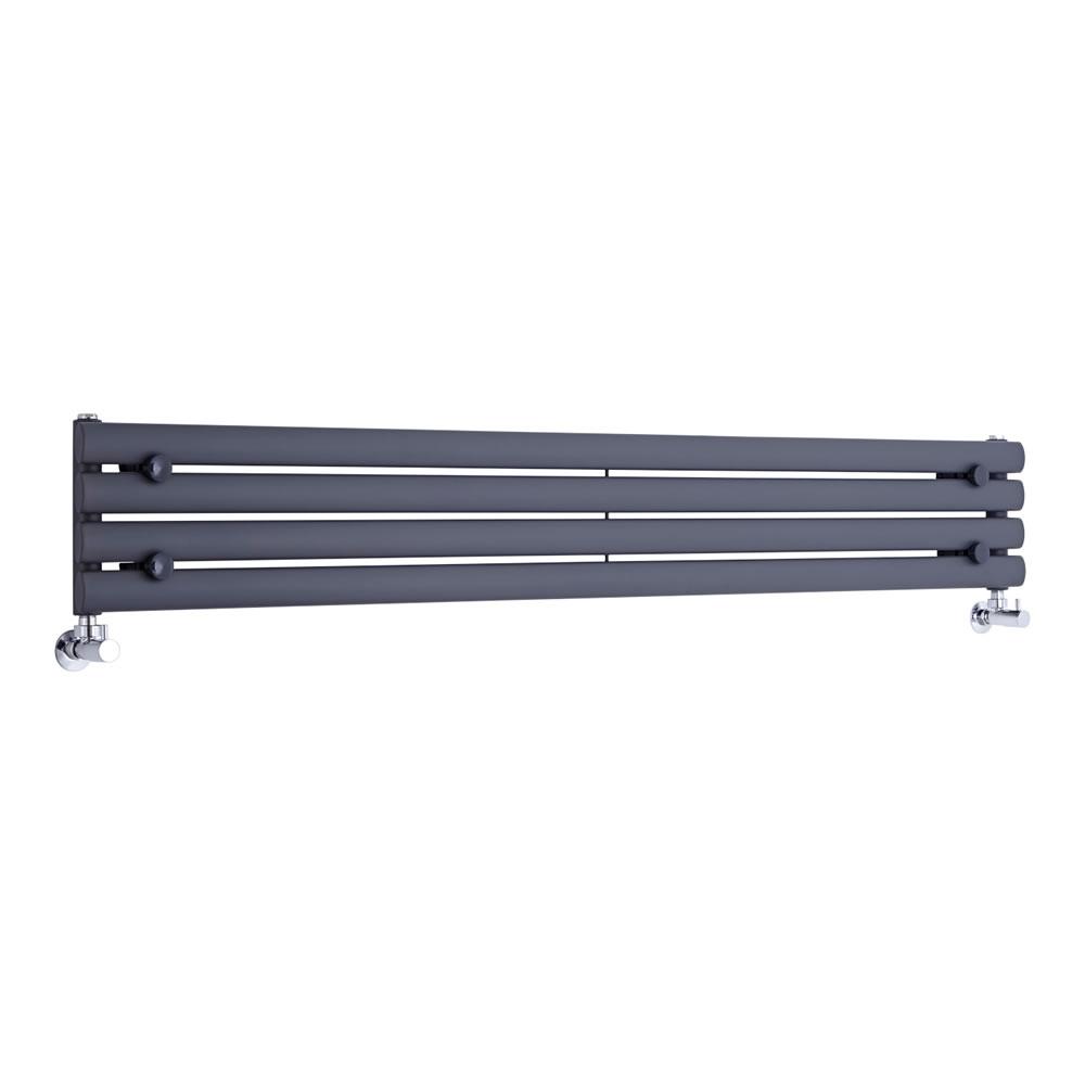 Radiador de Diseño Horizontal - Antracita - 236mm x 1600mm x 56mm - 517 Vatios - Revive