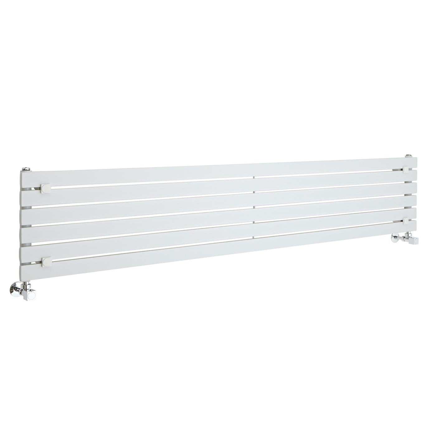 Radiador de Diseño Horizontal - Blanco - 354mm x 1780mm x 54mm - 820 Vatios - Sloane
