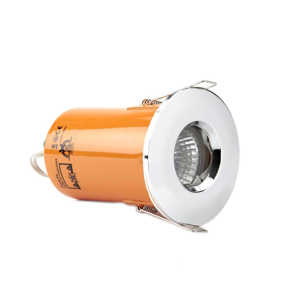 Foco Downlight LED GU10 de Techo con Marco Cromado
