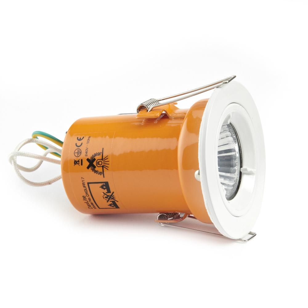 Foco Downlight LED GU10 de Techo Empotrable de 240 V con Carcasa en Color Blanco