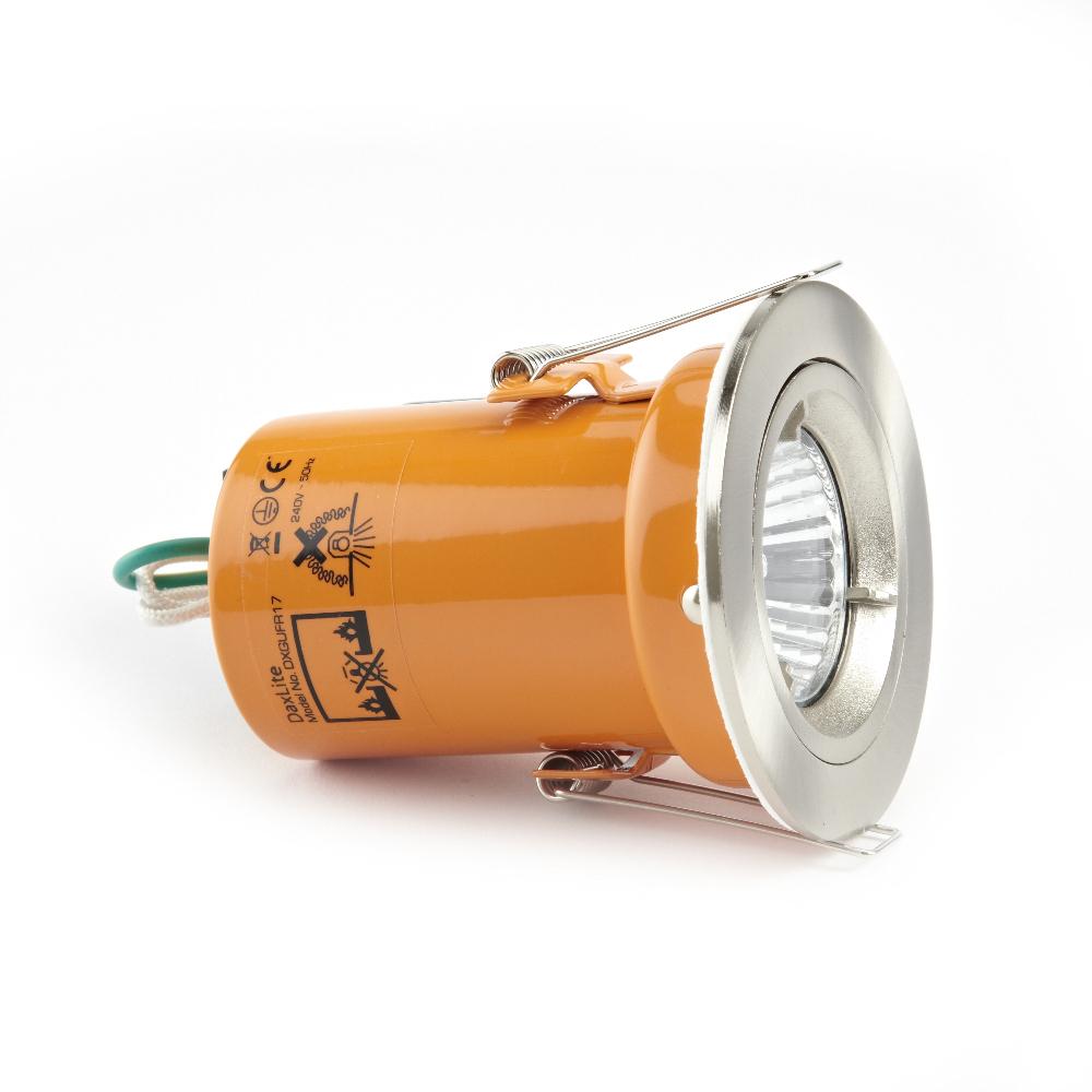 Foco Downlight LED GU10 de Techo Empotrable de 240V con Carcasa en Color Plateado