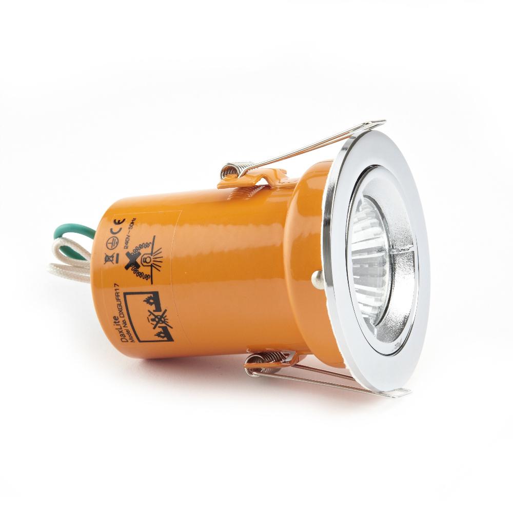 Foco Downlight LED GU10 de Techo Empotrable de 240V con Carcasa en Color Cromo