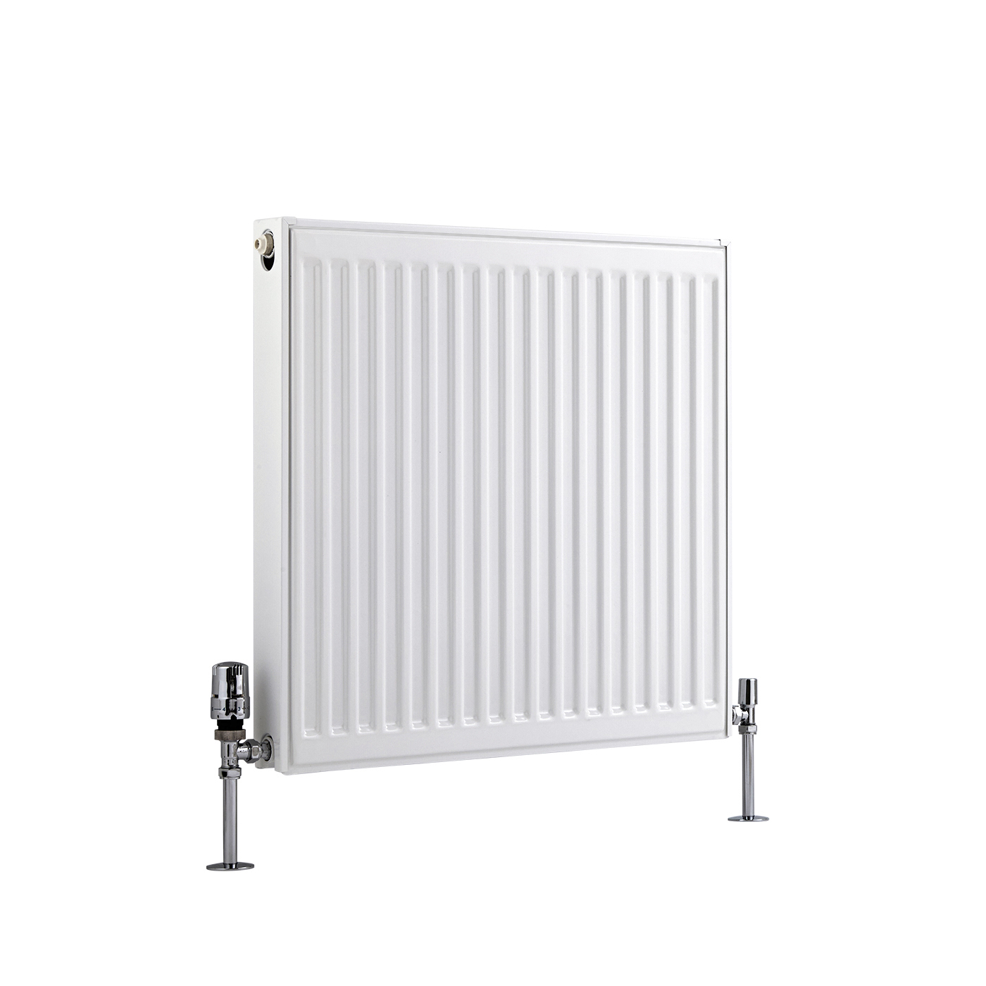 Radiador Convector Horizontal con Panel Doble Plus - Blanco - 600mm x 600mm x 73mm - 1019 Vatios - Eco