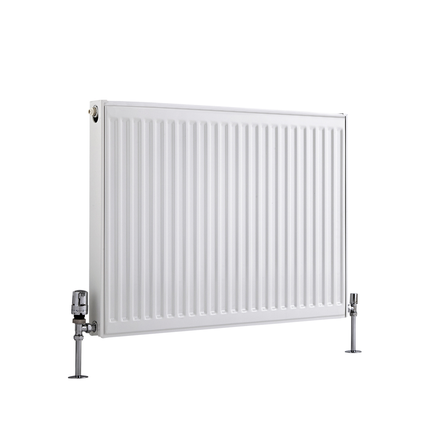 Radiador Convector Horizontal con Panel Doble Plus - Blanco - 600mm x 800mm x 73mm - 1359 Vatios - Eco