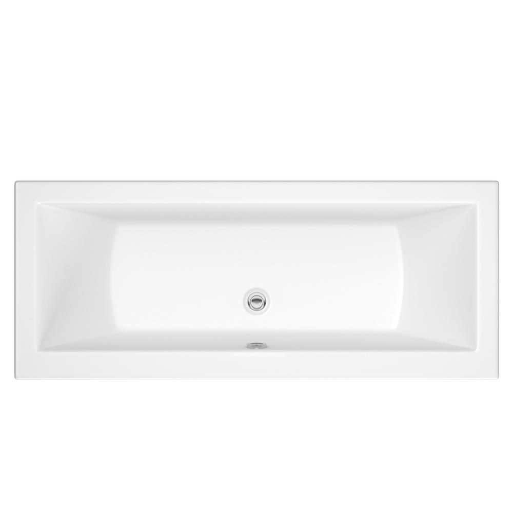 Bañera Rectangular Acrílica Blanca 1700x700mm