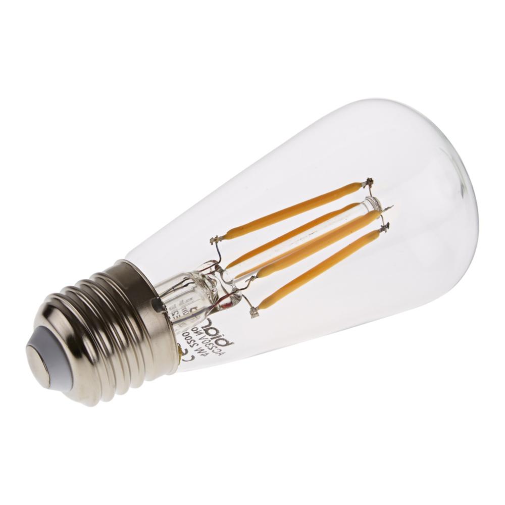 Bombilla LED Tradicional E27 con Filamentos 4W