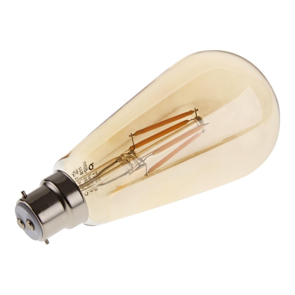 Bombilla LED Tradicional B22 con Filamentos 4W
