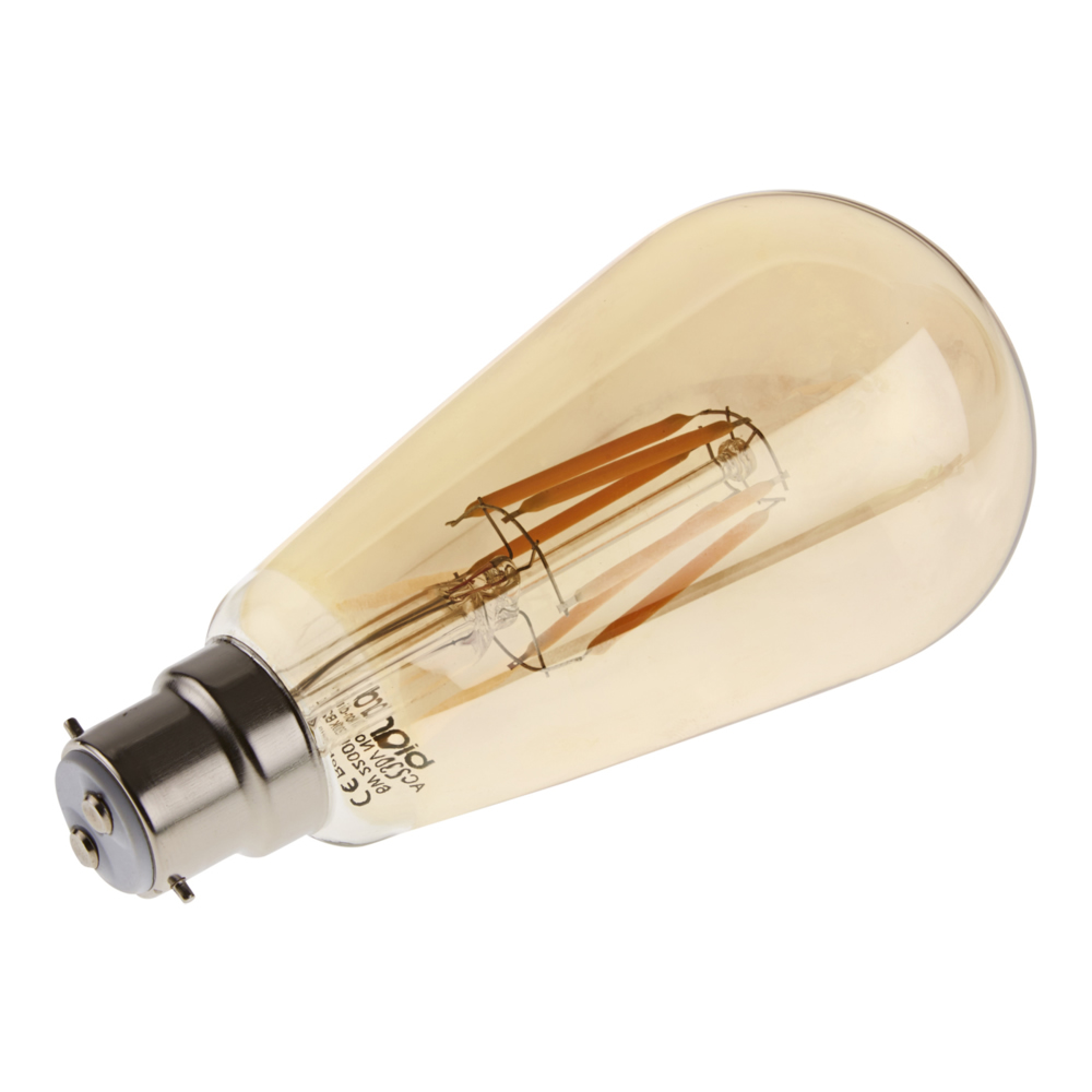 Bombilla LED Tradicional B22 con Filamentos 6W