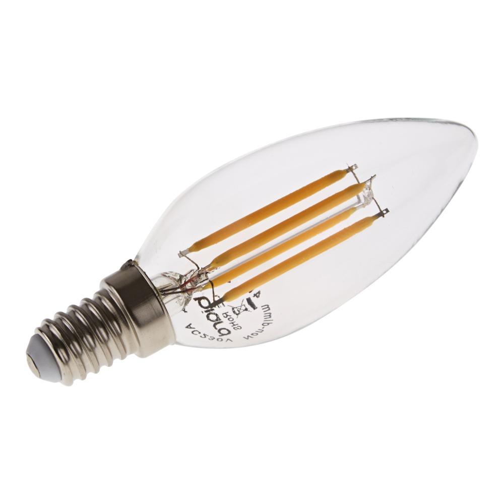 Bombilla LED Tradicional E14 con Filamentos 4W