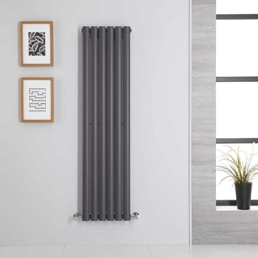 Radiador de Diseño Vertical - Antracita - 1400mm x 354mm x 56mm - 686 Vatios - Revive