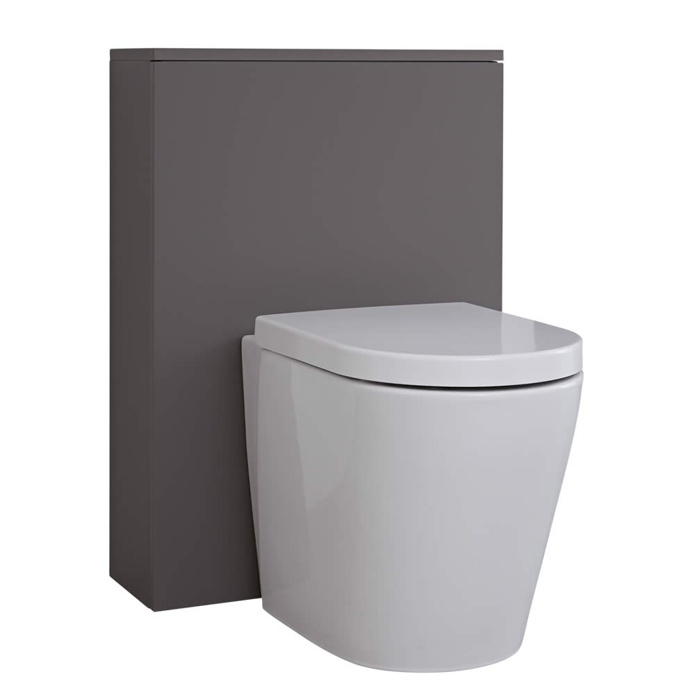 Mueble de Baño de 600mm Color Gris Opaco para Inodoro - Newington