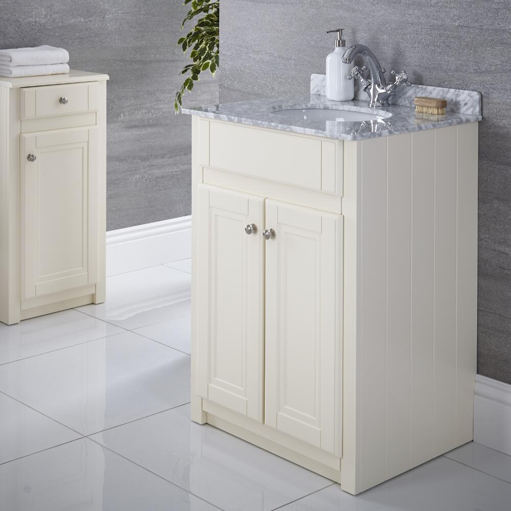 Mueble de Lavabo Tradicional Color Marfil 600mm - Charlton