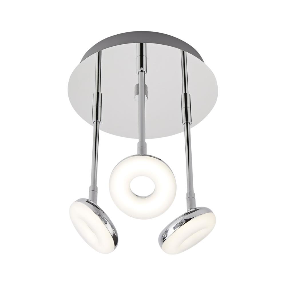 Biard Luminaria de Techo con Tres Focos para Baño 16W - Ciambella