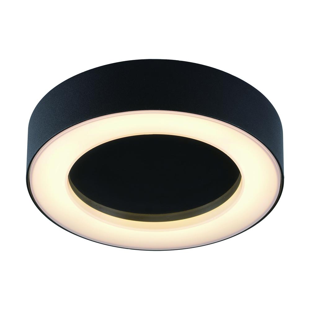 Biard Plafón de Techo Circular Negro para Espacios Interiores 13W - Ambiente