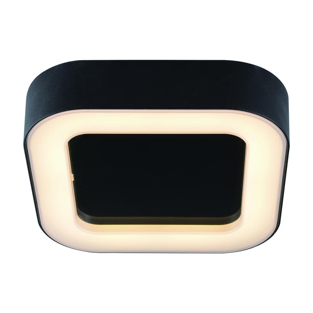 Plafón de Techo Cuadrado Negro para Espacios Interiores 13W - Ambient