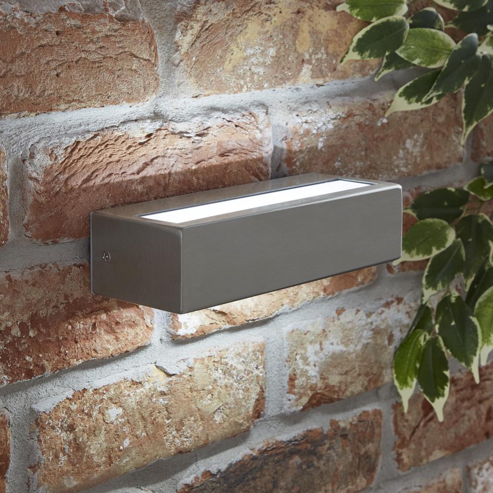 Biard Apliqué Exterior de Acero Inoxidable con LED Integrado - Ternay