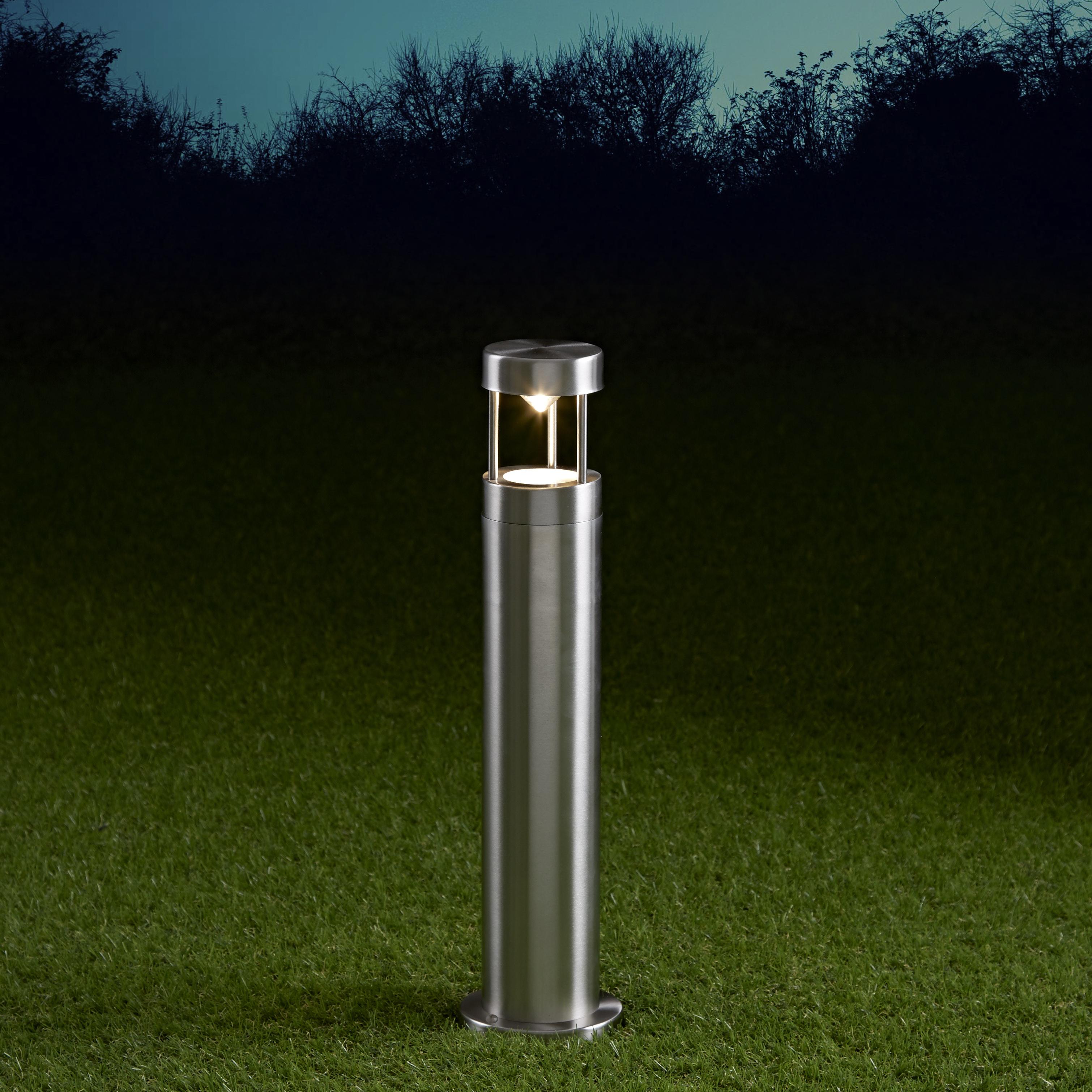 Biard Sobremuro LED de 450mm para Exteriores de Acero Inoxidable y Bombilla GU10 - Niort