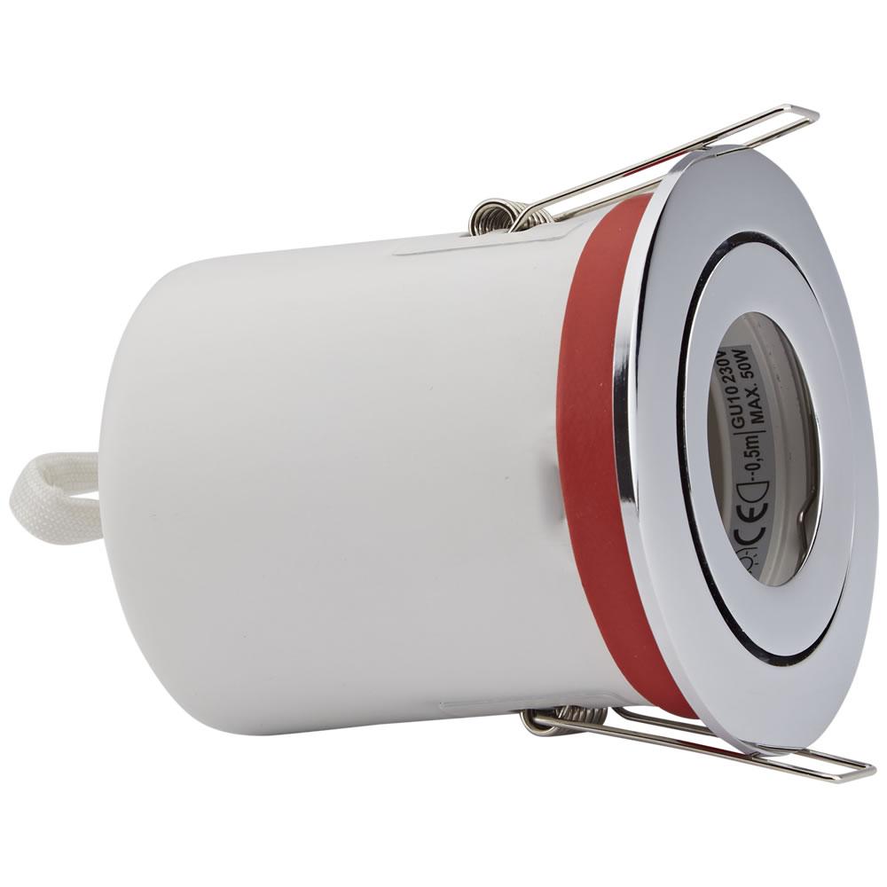 Biard Foco Downlight Empotrable IP20 GU10 Inclinable de Techo Clasifícación Ignífuga con Bisel Redondo Disponible en 3 Colores