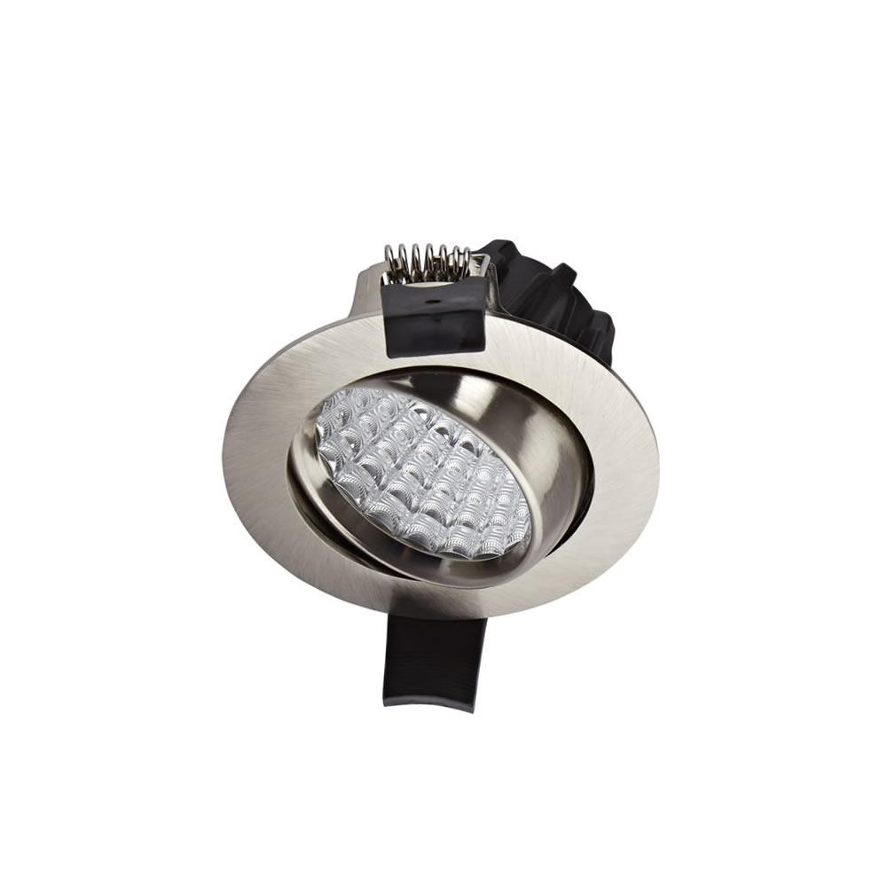Foco Blanco LED Empotrable Orientable de 7W con Intensidad Regulable - Níquel