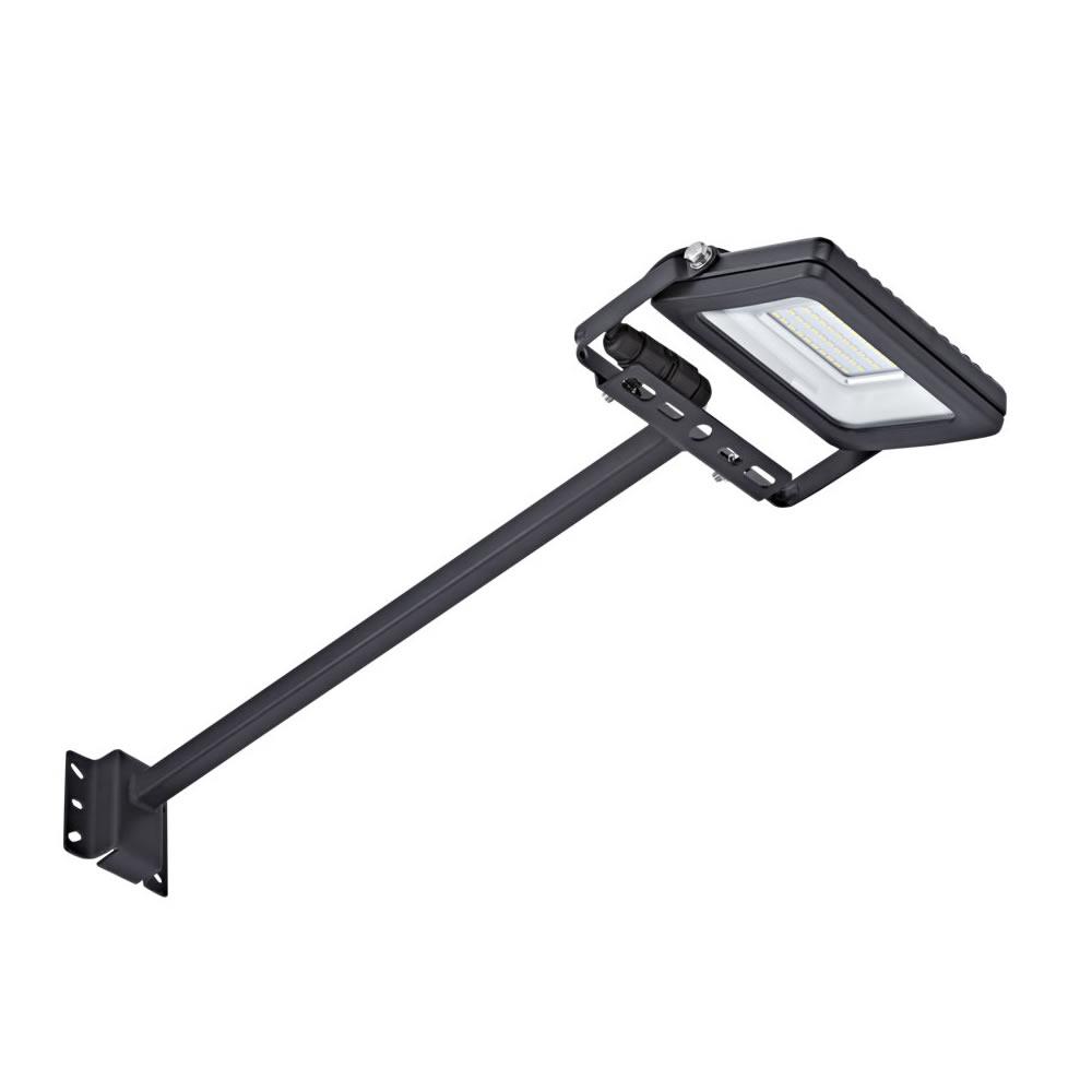 Kit Completo con Brazo Porta Foco Proyector LED de 0,5m  y Foco LED de 20W IP65