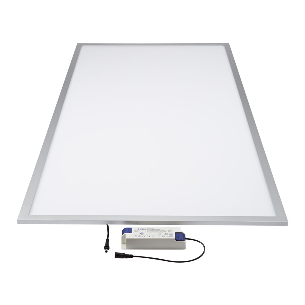 Biard Panel LED de Techo 600x1200mm 60W con Marco Plateado LED