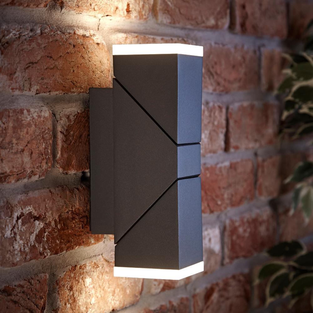 Biard Aplique LED Orientable Cuadrado Antracita con Luz Ascendente/Descendente - Ziersdorf