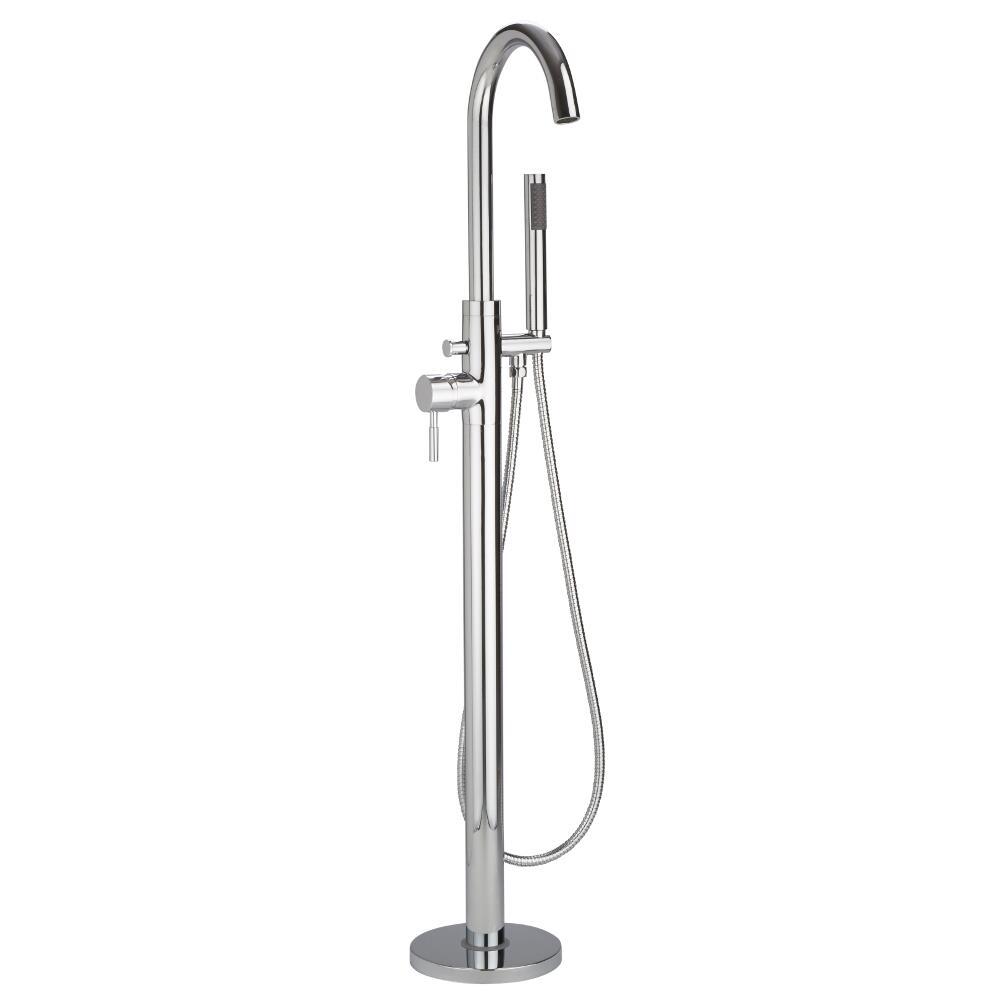 Grifo mezclador autoportante con ducha de mano para ba era for Grifo mezclador ducha
