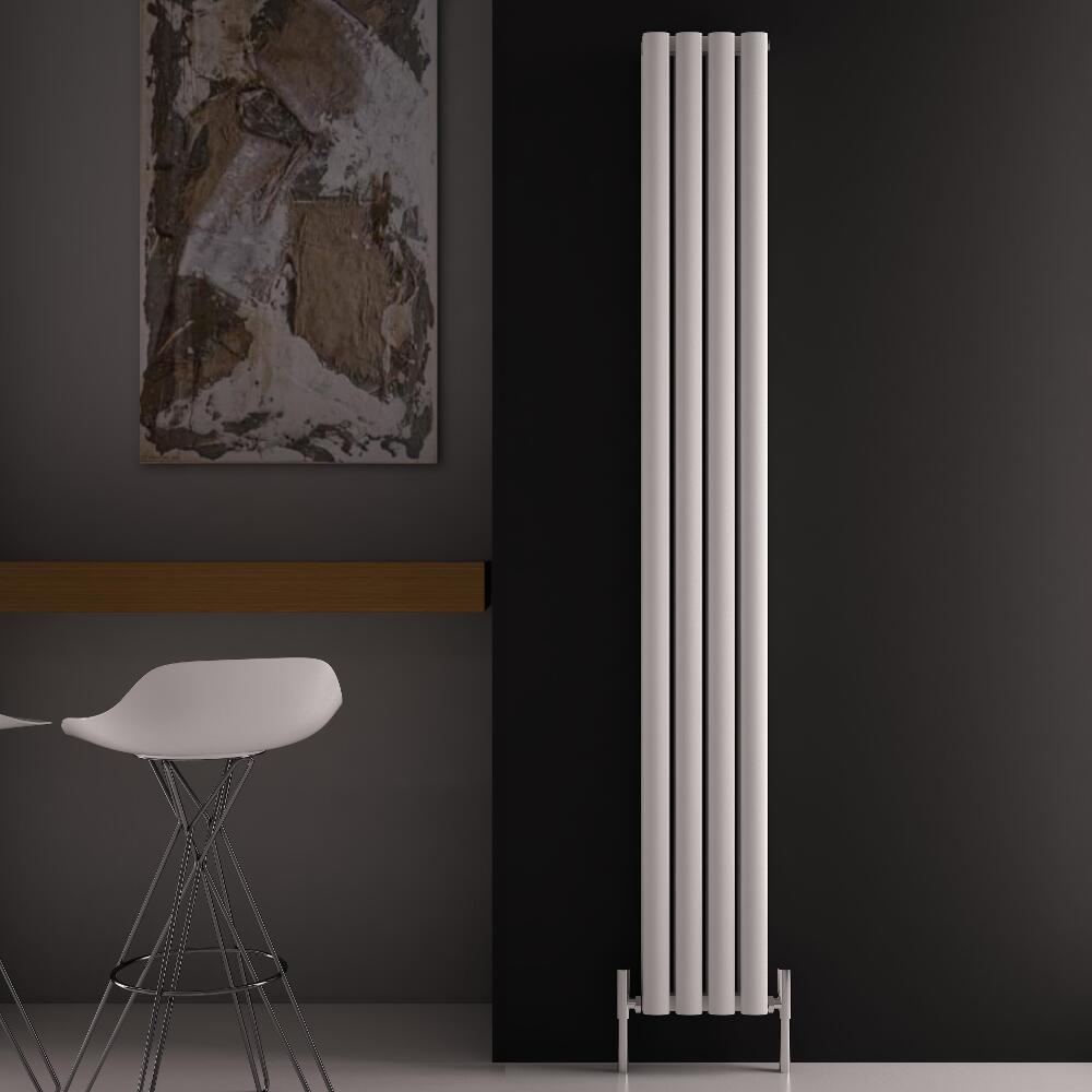 Radiador de Diseño Vertical Doble - Blanco - 1800mm x 230mm x 76mm - 1002 Vatios - Revive Air