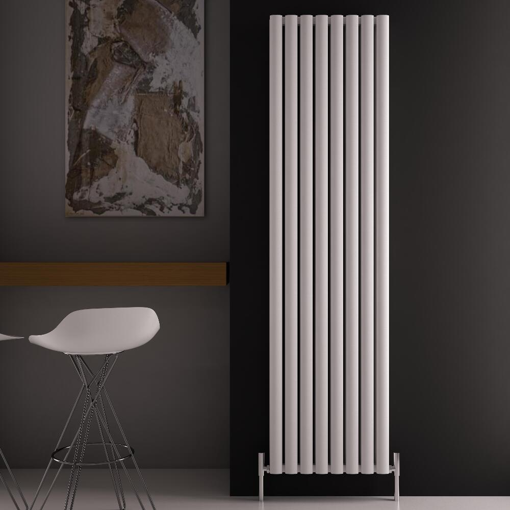 Radiador de Diseño Vertical Doble - Blanco - 1800mm x 470mm x 76mm - 2004 Vatios - Revive Air