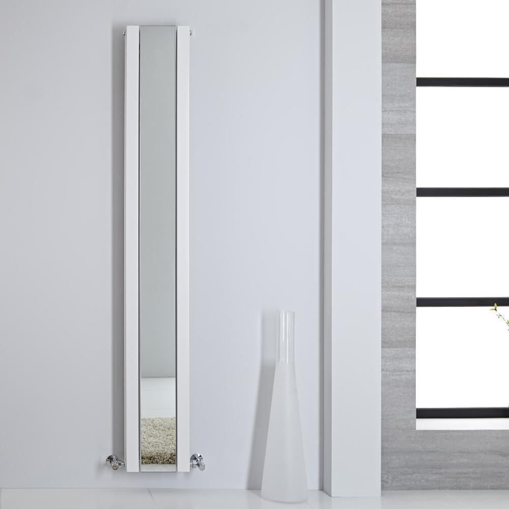 Radiador de Diseño - Vertical Con Espejo - Blanco - 1800mm x 265mm - 995 Vatios - Sloane